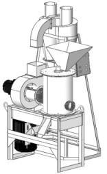 Шлифовальная машина зерношелушитель циклон производство переработка круп шелушение