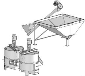 Термообработка шнек производство круп пропариватель парогенератор